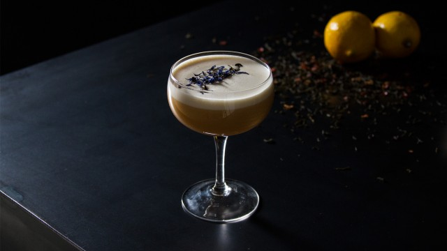 Tea Infused Whiskey Sour